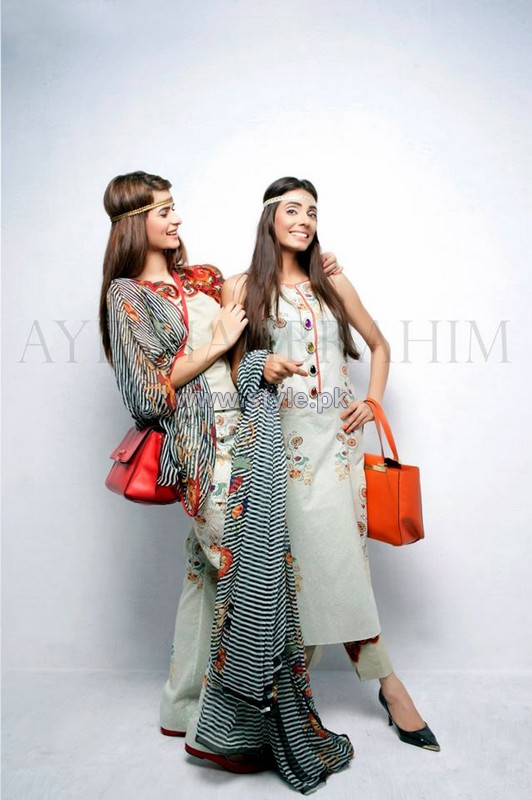 Ayesha Ibrahim Lawn Dresses 2014 For Girls 5