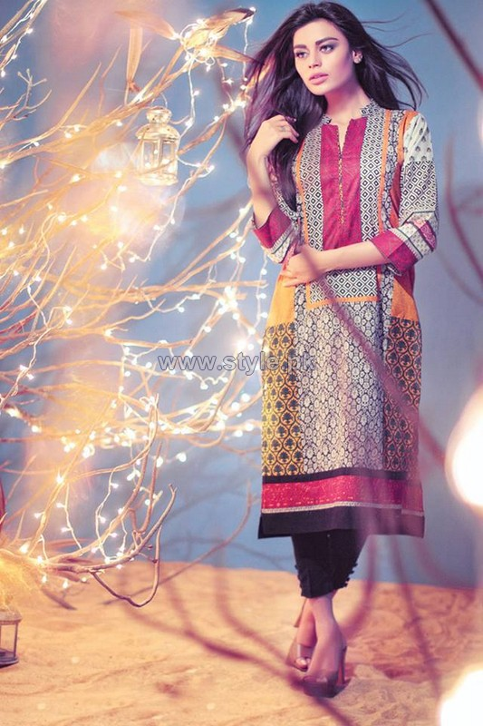 Ethnic by Outfitters Eid Dresses 2014 For Girls 3