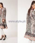 Fahad Hussayn Digital Print Dresses 2014 For Girls 1