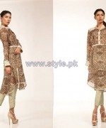 Fahad Hussayn Digital Print Dresses 2014 For Girls 3