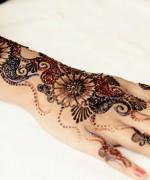 Glitter Mehndi Designs 2014 For Women 0011