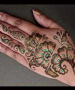 Glitter Mehndi Designs 2014 For Women 005