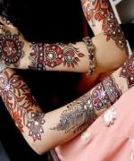 Glitter Mehndi Designs 2014 For Women 007