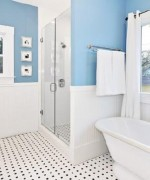 How To Use Blue And White Colors For Bathroom Decoration 001