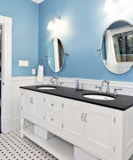 How To Use Blue And White Colors For Bathroom Decoration 0012