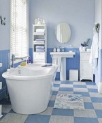 How To Use Blue And White Colors For Bathroom Decoration 007