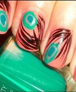 Peacock Nail Art Designs For Summer Season 004