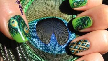 Peacock Nail Art Designs For Summer Season 005