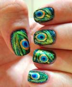 Peacock Nail Art Designs For Summer Season 013