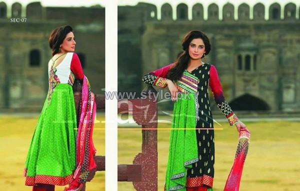 Sana Samia Eid Dresses 2014 by Lala Textiles 6