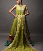 Trends Of Green Mehndi Dresses 2014 For Women 0010