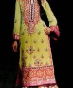 Trends Of Green Mehndi Dresses 2014 For Women 002