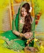 Trends Of Green Mehndi Dresses 2014 For Women  004