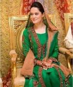 Trends Of Green Mehndi Dresses 2014 For Women 005
