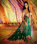 Trends Of Green Mehndi Dresses 2014 For Women 007