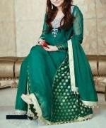 Trends Of Green Mehndi Dresses 2014 For Women003