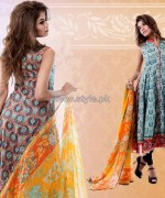Yellow Lawn Dresses 2014 For Eid 1