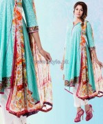 Yellow Lawn Dresses 2014 For Eid 3