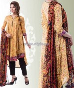 Yellow Lawn Dresses 2014 For Eid 5