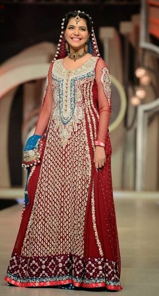 Bridal Anarkali Frocks For Wedding 09