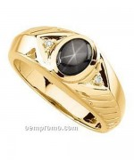 Designs Of Black Sapphire Rings 2014 For Men 001