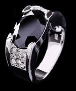 Designs Of Black Sapphire Rings 2014 For Men 005