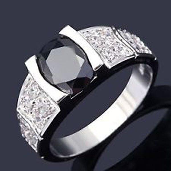 Designs Of Black Sapphire Rings 2014 For Men 009