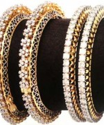 Designs Of Bridal Diamond Bangles 2014 For Women 0013