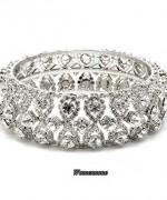 Designs Of Bridal Diamond Bangles 2014 For Women 002