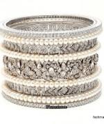 Designs Of Bridal Diamond Bangles 2014 For Women 004
