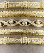 Designs Of Bridal Diamond Bangles 2014 For Women 006