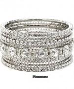 Designs Of Bridal Diamond Bangles 2014 For Women 009