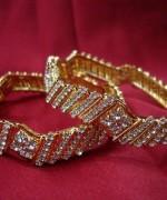 Designs Of Bridal Diamond Bangles 2014 For Women 012