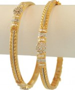 Designs Of Bridal Diamond Bangles 2014 For Women