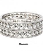 Designs Of Bridal Diamond Bangles 2014 For Women 9001