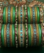 Designs Of Glass Bangles 2014 For Women 007