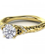 Designs Of Gold Engagement Rings 2014 For Women 009