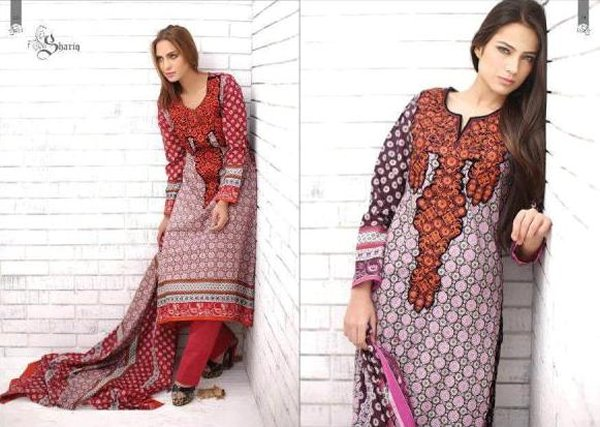 Embroidered Lawn Dresses Trend 2014 For Women 0010