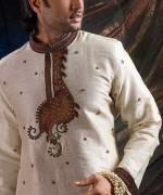 Embroidered Mehndi Dresses 2014 For Men 001