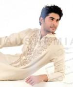 Embroidered Mehndi Dresses 2014 For Men 005