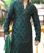 Embroidered Mehndi Dresses 2014 For Men 006