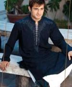 Embroidered Mehndi Dresses 2014 For Men 007