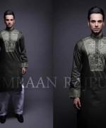 Embroidered Mehndi Dresses 2014 For Men 008