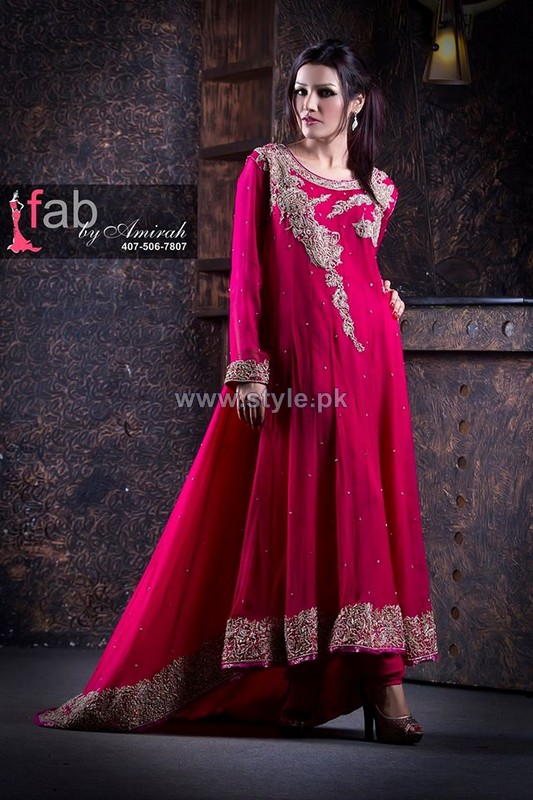 Fab by Amirah Embroidered Dresses 2014 For Wedding 8