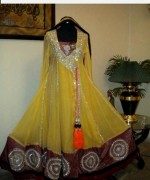 Fashion Of Angrakha Frocks 2014 For Women