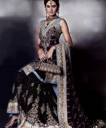 Fashion Of Bridal Dresses 2014 In Black Color 009
