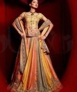 Fashion Of Multi Color Party Dresses 2014 For Pakistani Women 0010