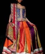 Fashion Of Multi Color Party Dresses 2014 For Pakistani Women 0011