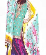 Fashion Of Multi Color Party Dresses 2014 For Pakistani Women 0013
