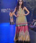 Fashion Of Multi Color Party Dresses 2014 For Pakistani Women 004